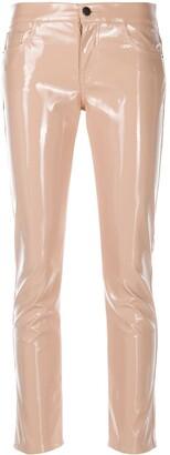 Laneus Wet-Look Slim Fit Trousers