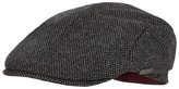 J By Jasper Conran Grey Textured Pattern Flat Cap