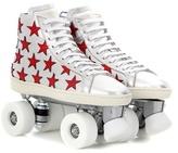 Saint Laurent Metallic Leather Roller Skates
