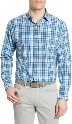 Peter Millar Natural Touch Plaid Button-Up Performance Shirt