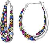 Confetti Crystal Inside Out U-Hoop Earrings
