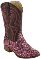 BETANI FE24 Girl's Kids Western Embroidered Mid Calf Cowgirl Block Heel Boots, Color:, Size:
