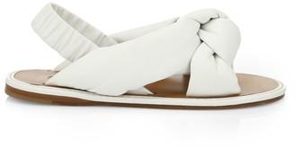 Miu Miu Knotted Leather Slingback Sandals