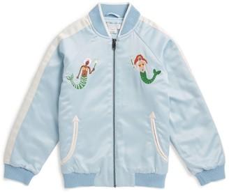 Stella McCartney Embroidered Mermaid Bomber Jacket