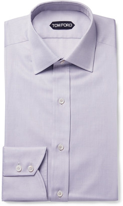 Tom Ford Lilac Slim-Fit Cotton-Twill Shirt
