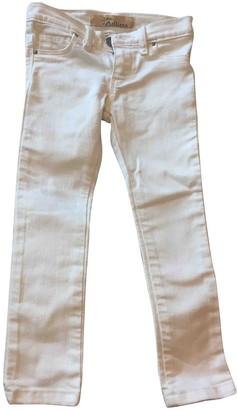 John Galliano White Cotton Trousers