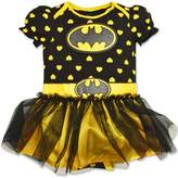 DC Comics Baby Girls' Batgirl Tutu Onesie - with Yellow Hearts (0-6 Months)