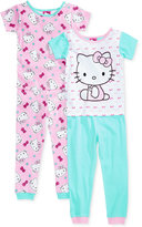 AME 4-Pc. Hello Kitty Cotton Pajama Set, Toddler Girls (2T-5T)