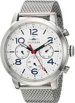 Tommy Hilfiger Men's 'JAKE' Quartz Stainless Steel Casual Watch, Color:-Toned (Model: 1791233)