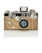 Judith Leiber Couture Crystal Camera Clutch