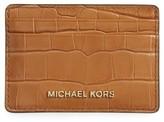 MICHAEL Michael Kors Women's Money Pieces Leather Card Case - Brown
