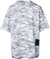 Puma x XO camouflage print short sleeve hoodie