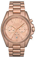 Michael Kors Michaels Kors Mid Size Rose Gold Tone Stainless Steel Bradshaw Chronograph Watch