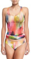 Fuzzi Tulle Watercolor Tankini Swimsuit Set