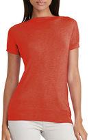 Lauren Ralph Lauren Silk-Blend Cap Sleeve Sweater