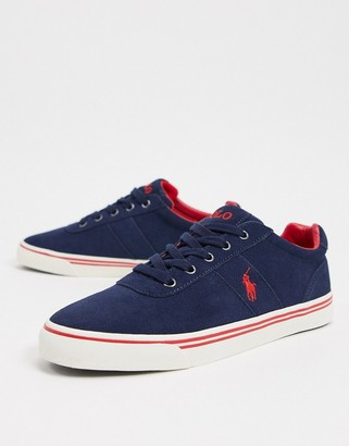 Polo Ralph Lauren hanford in navy suede with red logo
