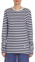 Burberry Women's Breton Stripe Cotton Tee