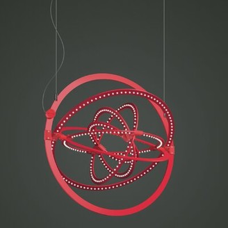 Artemide Copernico 1-Light LED Single Geometric Pendant Finish: Red