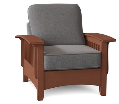 """Thumbnail for your product : Loon Peak Warrington 35.75"""" Wide Armchair Body Fabric: Dove Gray-21553B"""