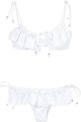 AMIR SLAMA Ruffled Bikini Set