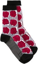Paul Smith rose pattern socks