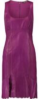 Roberto Cavalli Glossed Cotton-Blend Mini Dress