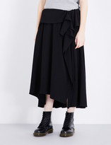 Y's YS Ruffled woven skirt