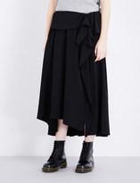 Y's YS Ruffled woven skirt
