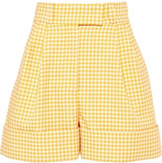 Miu Miu Gingham Check Twill Shorts