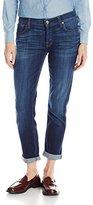 7 For All Mankind Women's Josefina Boyfirend Jean with Knee Holes In Marie Vintage Blue 3, Marie Vintage Blue, 24