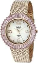 Burgi Women's BUR076PK Diamond and Baguette Bracelet Watch