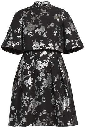 Erdem Favilla Lurex Rose Jacquard Dress