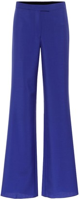 Salvatore Ferragamo High-rise wide mohair-blend pants