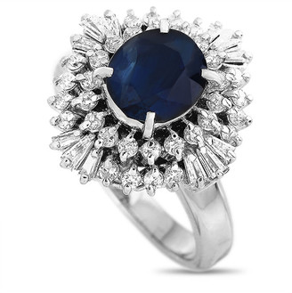 Heritage Platinum 3.20 Ct. Tw. Diamond & Sapphire Ring