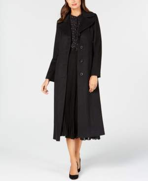 Anne Klein Petite Single-Breasted Maxi Coat