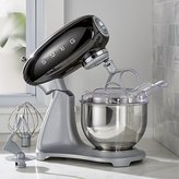 Crate & Barrel Smeg Black Retro Stand Mixer