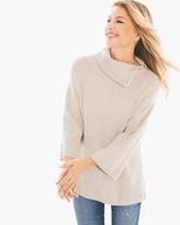 Chico's Cotton Cashmere Zip-Neck Sweater