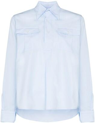 Plan C Half-Placket Tailored Shirt