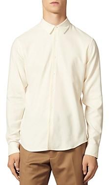 Sandro Supra Flannel Slim Fit Button-Front Shirt