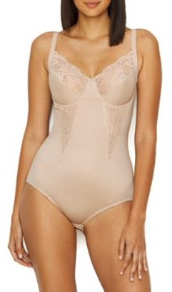 Maidenform Womens Flexees Embellished Firm Control Bodysuit Style-1456