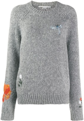 Stella McCartney animal and floral print motifs sweater