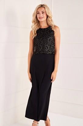 Yumi Lace Top Overlay Midi Dress