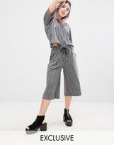 Monki Pinstripe Culotte