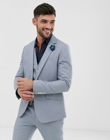 Gianni Feraud Wedding Slim Fit Linen Plain Suit Jacket