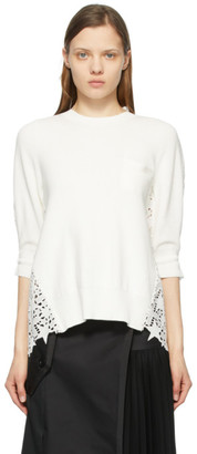 Sacai White Star Embroidered Pullover