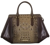 Brahmin Arden Coffee Norland Leather Satchel