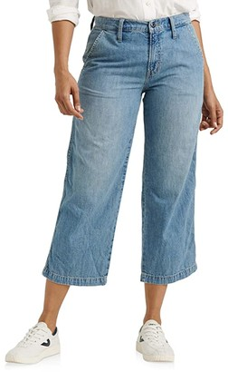 Lucky Brand Mid-Rise Crop Wide Leg Jeans in Garford (Garford) Women's Jeans