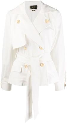 Liu Jo Tie-Waist Short Trench Jacket