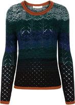 Vanessa Bruno Green Knitted Stripe Flavor Jumper