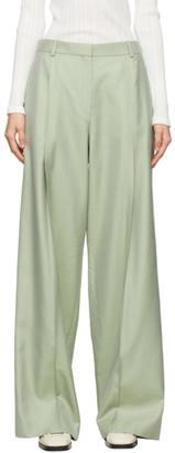 Nina Ricci Green Wool Trousers